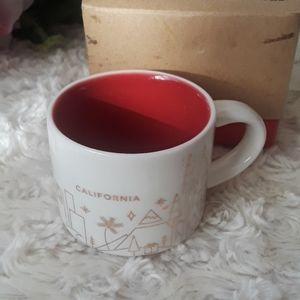 Starbucks mini coffee mug California collection